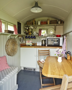Inside the Shepherds Huts